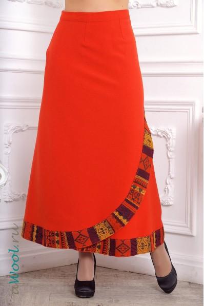 юбка макси awool ZK3N из итальянской шерстяной ткани