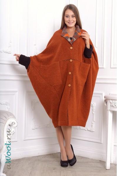 пальто ромб awool ZP4F из итальянской валяной шерсти