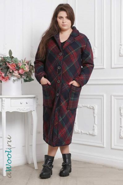 Женское пальто из шерсти P16A фото